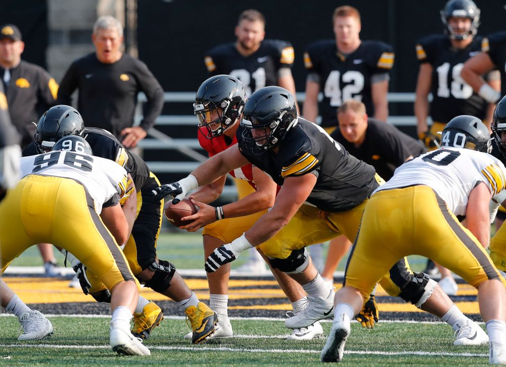 Iowa Hawkeyes quarterback Nathan Stanley (4) during camp practice No. 16 Tuesday, August 21, 2018 at the Hansen Football Performance Center. (Brian Ray/hawkeyesports.com)