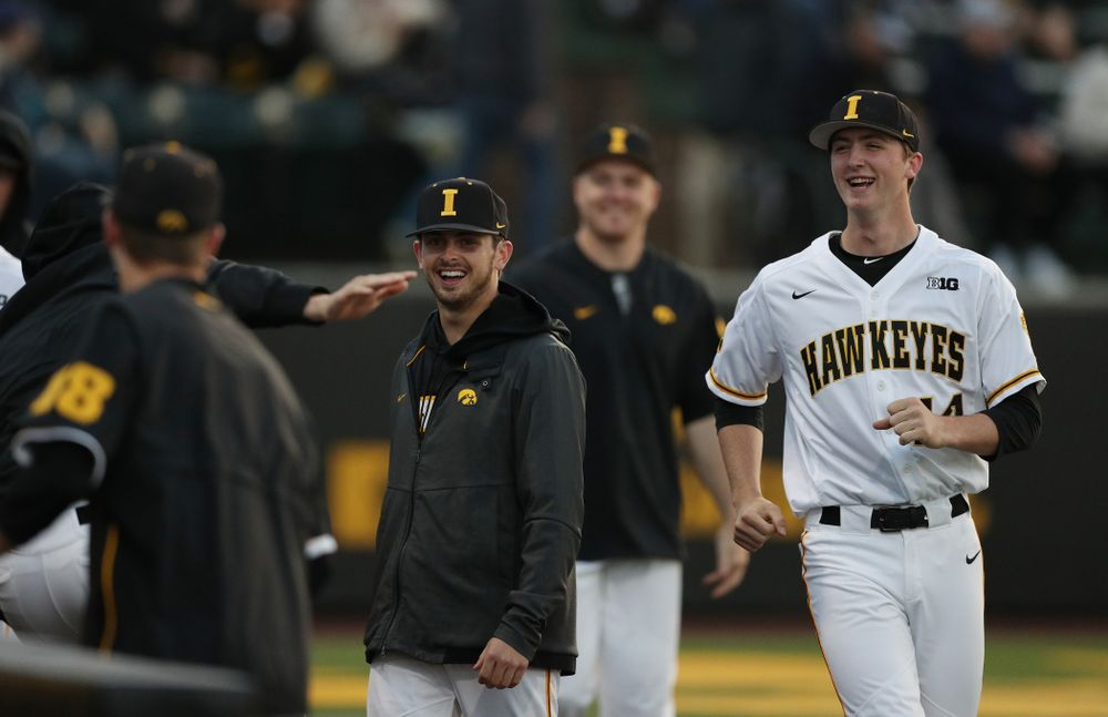 Iowa Hawkeyes infielder Mitchell Boe (4) against the Michigan State Spartans Friday, May 10, 2019 at Duane Banks Field. (Brian Ray/hawkeyesports.com)
