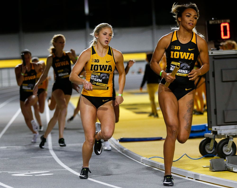 Iowa's Aly Weum and Tria Simmons