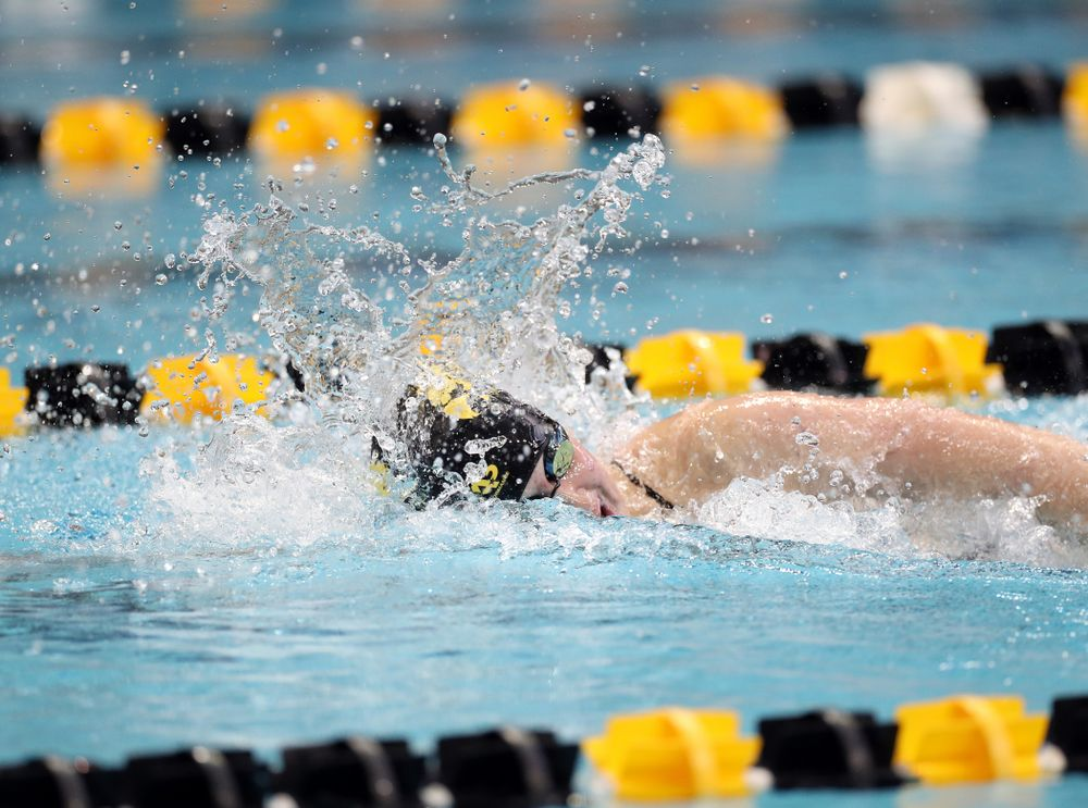 IowaÕs Erin Lang swims the 200 yard freestyle agains the Michigan Wolverines Friday, November 1, 2019 at the Campus Recreation and Wellness Center. (Brian Ray/hawkeyesports.com)