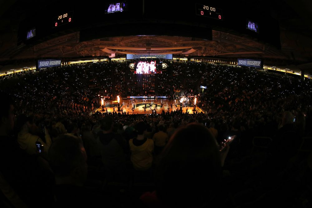 The Iowa Hawkeyes against the Michigan Wolverines  Friday, February 1, 2019 at Carver-Hawkeye Arena. (Brian Ray/hawkeyesports.com)