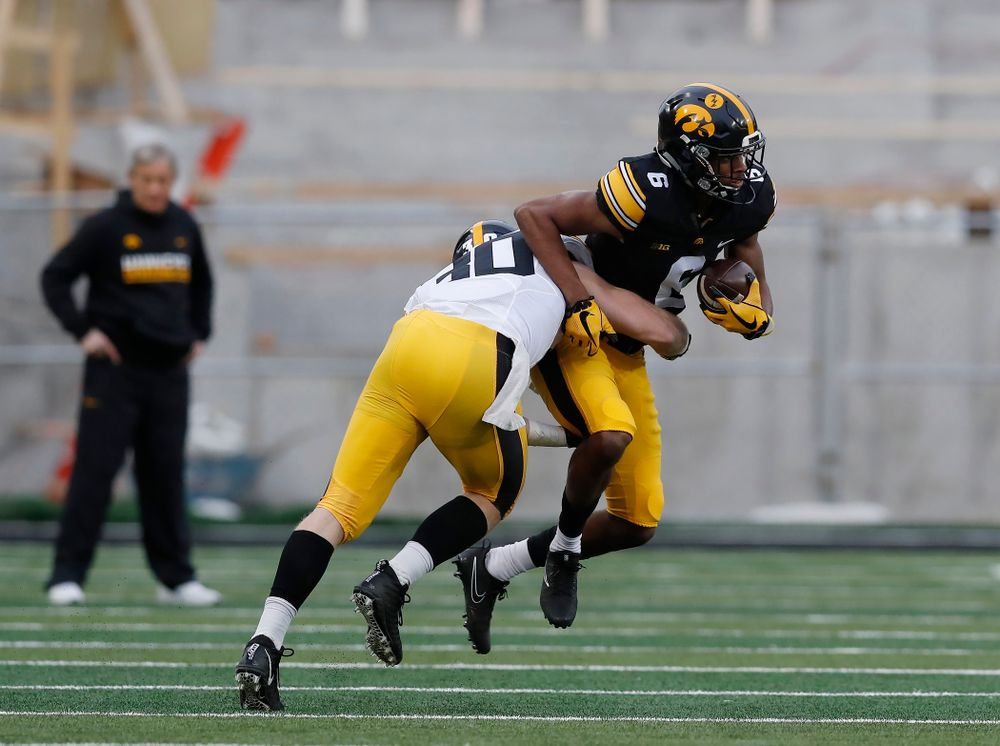 Iowa Hawkeyes wide receiver Ihmir Smith-Marsette (6) during the final spring practice Friday, April 20, 2018 at Kinnick Stadium. (Brian Ray/hawkeyesports.com)