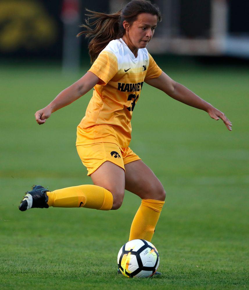 Iowa Hawkeyes Emma Tokuyama (21) against the Missouri Tigers Friday, August 17, 2018 at the Iowa Soccer Complex. (Brian Ray/hawkeyesports.com)
