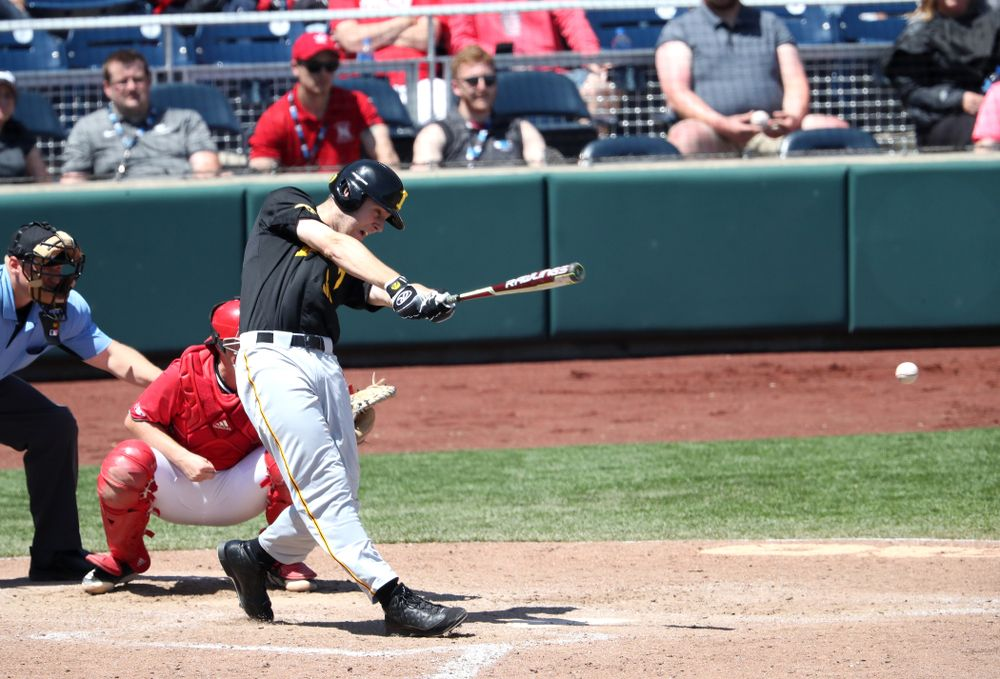 Iowa Hawkeyes Connor McCaffery (30) against the Nebraska Cornhuskers in the first round of the Big Ten Baseball Tournament Friday, May 24, 2019 at TD Ameritrade Park in Omaha, Neb. (Brian Ray/hawkeyesports.com)