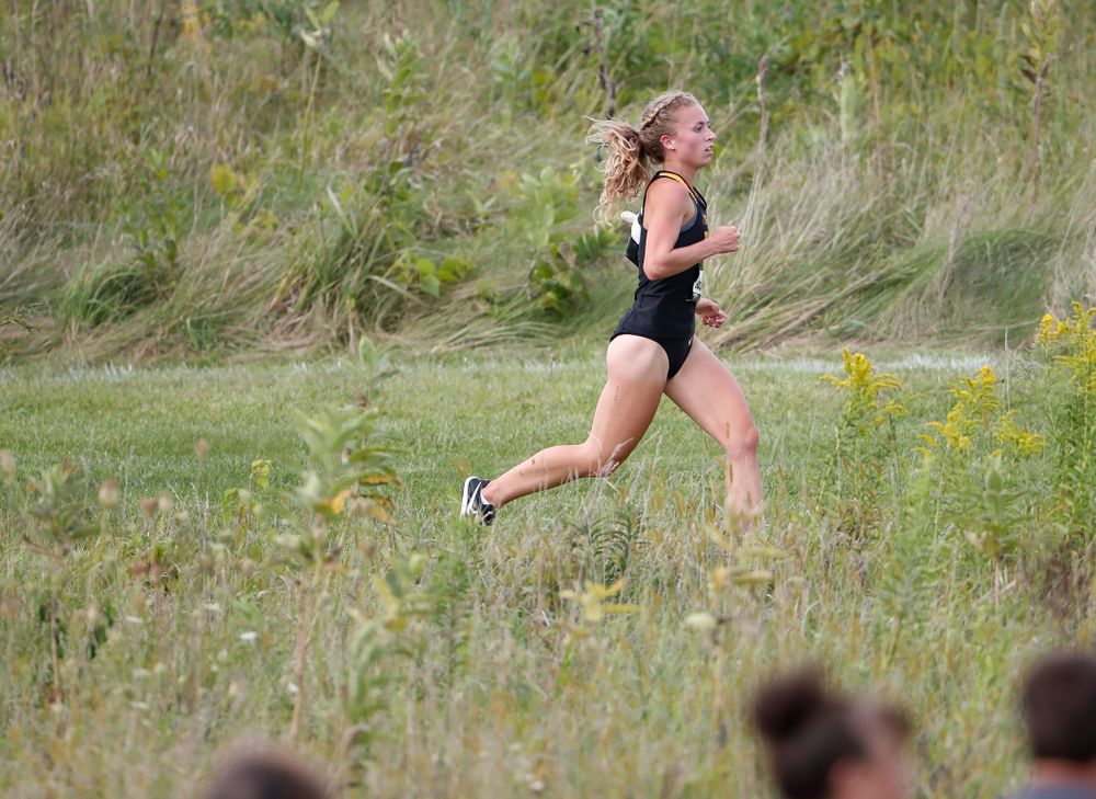 Megan Schott during the Hawkeye Invitational Friday, August 31, 2018 at the Ashton Cross Country Course.  (Brian Ray/hawkeyesports.com)