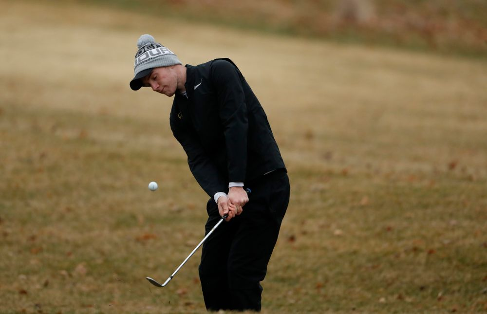 Iowa's Jake Rowe during day two of the 2018 Hawkeye Invitational Friday, April 13, 2018 at Finkbine Golf Course. (Brian Ray/hawkeyesports.com)