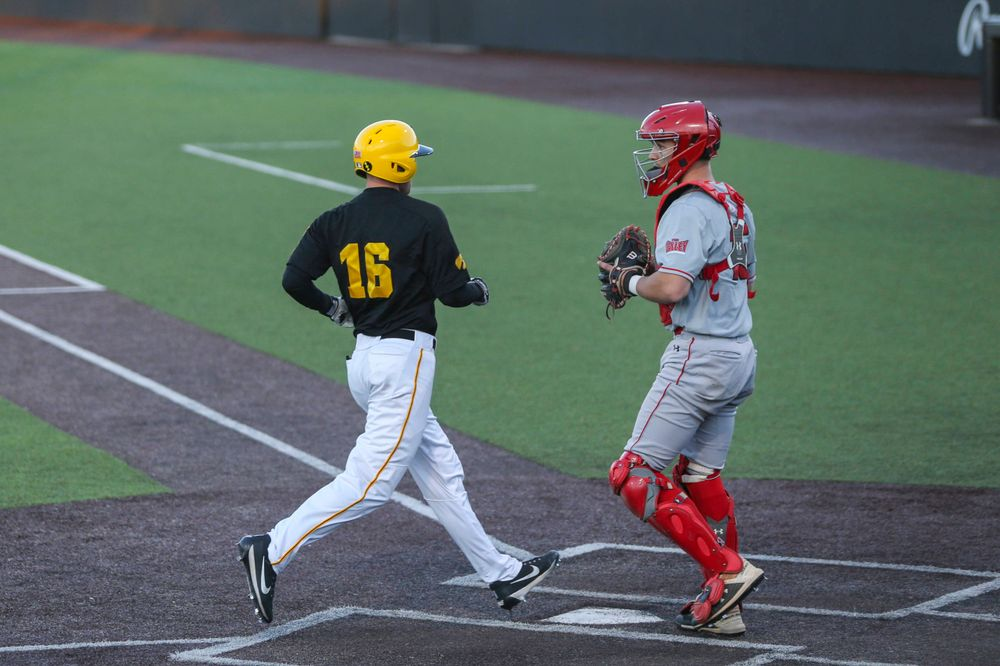Iowa infielder Tanner Wetrich at the game vs. Bradley on Tuesday, March 26, 2019 at (place). (Lily Smith/hawkeyesports.com)