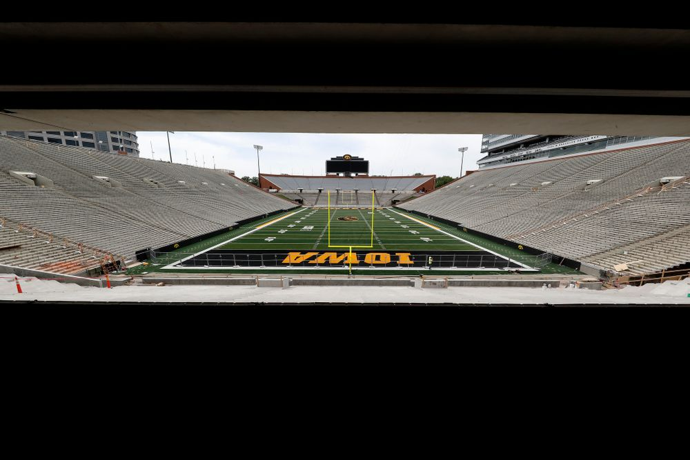 The view from the ADA seating area of the main concourse of the north end zone Wednesday, June 6, 2018 at Kinnick Stadium. (Brian Ray/hawkeyesports.com)