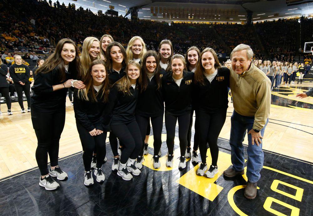 The Iowa Soccer Team with President Bruce Harreld