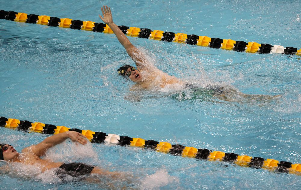 Iowa's Michael Tenney competes in the 400-yard IM during the third day of the Hawkeye Invitational at the Campus Recreation and Wellness Center on November 16, 2018. (Tork Mason/hawkeyesports.com)