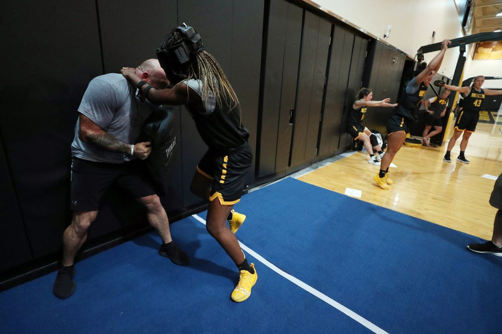 The Iowa WomenÕs Basketball Team participates in the The Program Wednesday, September 18, 2019 at Kinnick Stadium (Brian Ray/hawkeyesports.com)
