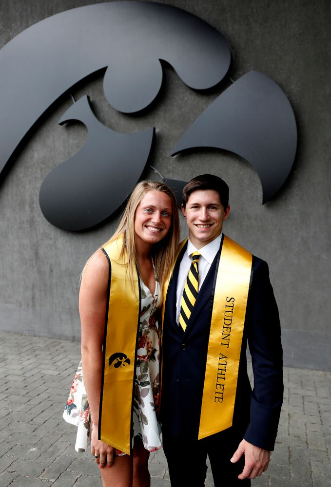 The 2018 I Ring Class following the Student Athlete Graduation Reception Friday, May 11, 2018 at Carver-Hawkeye Arena. (Brian Ray/hawkeyesports.com)
