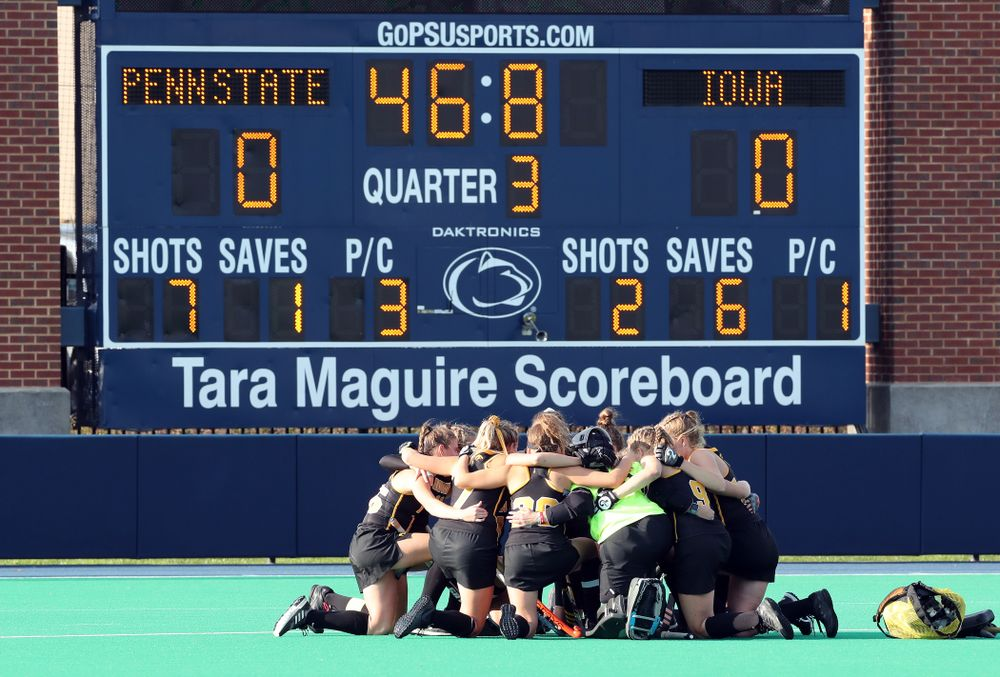The Iowa Hawkeyes against Penn State in the 2019 Big Ten Field Hockey Tournament Championship Game Sunday, November 10, 2019 in State College. (Brian Ray/hawkeyesports.com)