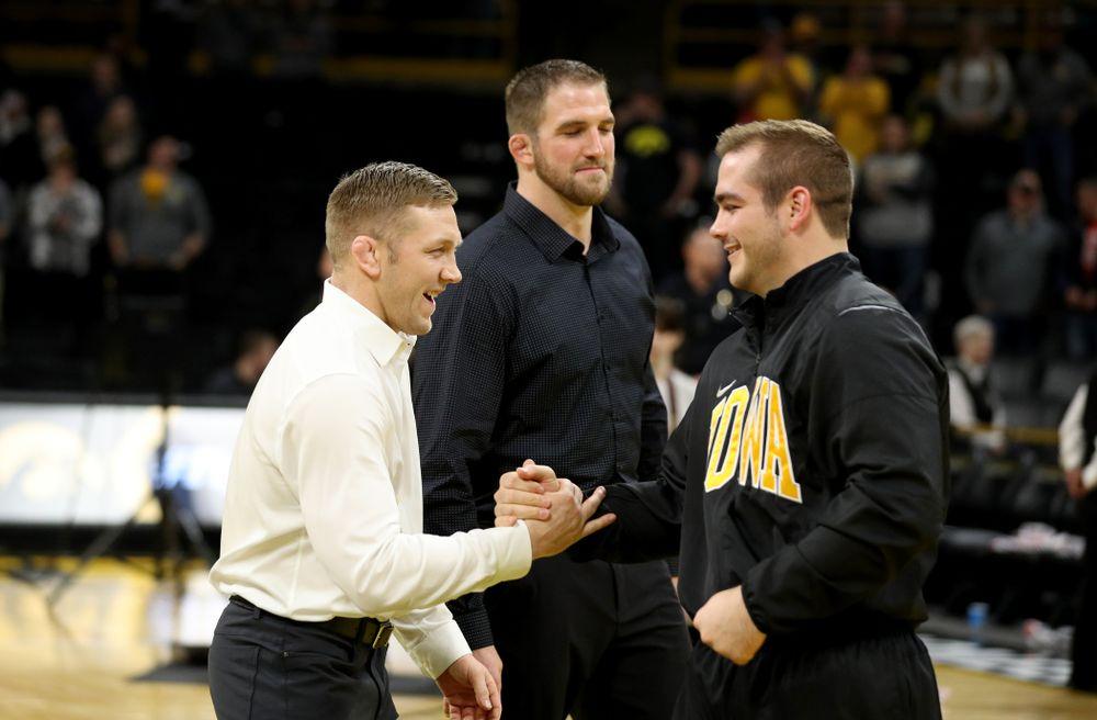 Iowa's Steven Holloway during senior day activities Sunday, February 23, 2020 at Carver-Hawkeye Arena. (Brian Ray/hawkeyesports.com)