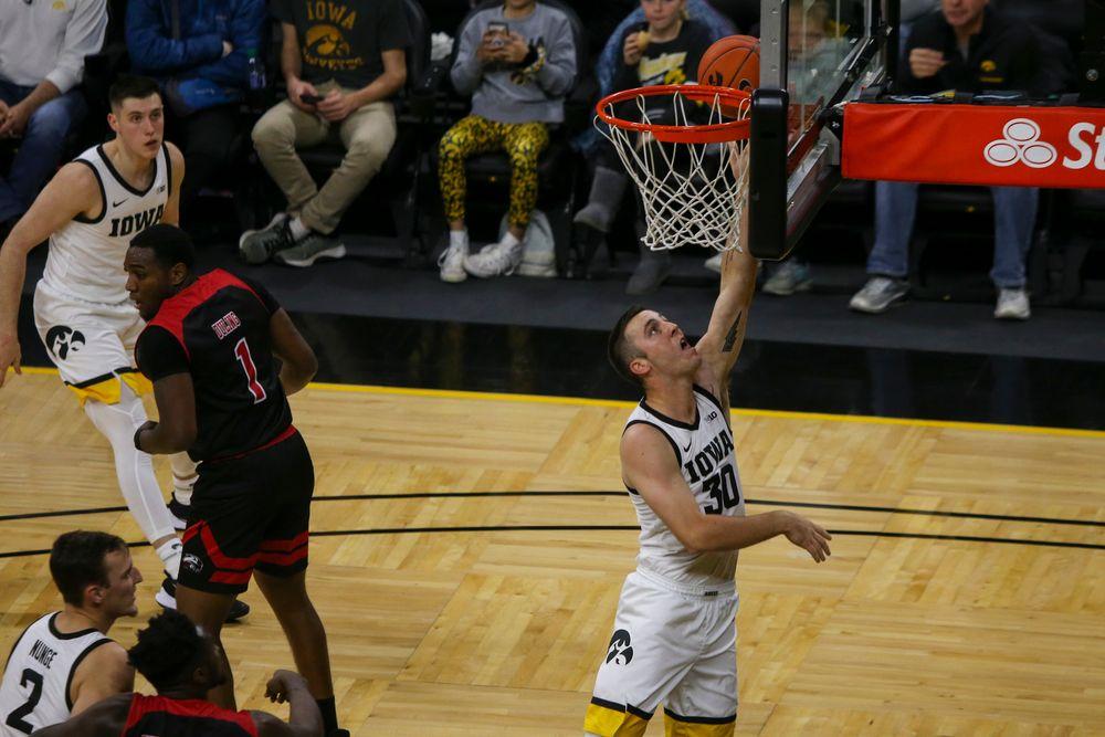 Iowa Hawkeyes guard Connor McCaffery (30) during Iowa men's basketball vs SIUE on Friday, November 8, 2019 at Carver-Hawkeye Arena. (Lily Smith/hawkeyesports.com)