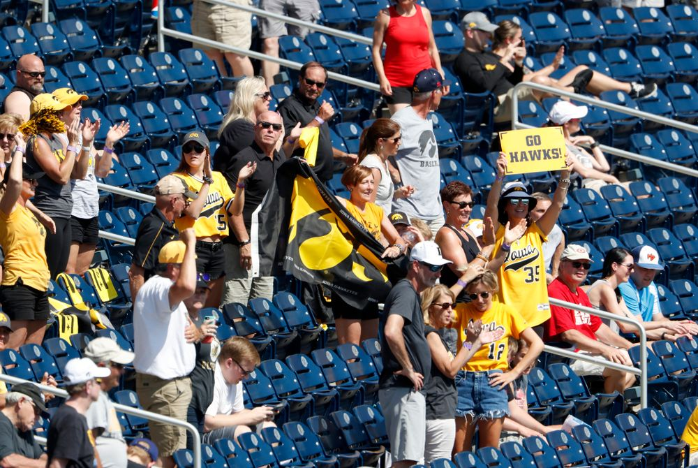 Fans of the Iowa Hawkeyes against the Michigan Wolverines in the first round of the Big Ten Baseball Tournament  Wednesday, May 23, 2018 at TD Ameritrade Park in Omaha, Neb. (Brian Ray/hawkeyesports.com)