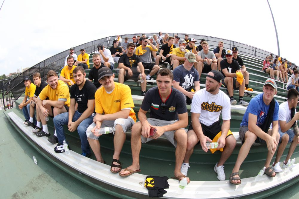 The Iowa Wrestling Team during the Iowa Student Athlete Kickoff Kickball game  Sunday, August 19, 2018 at Duane Banks Field. (Brian Ray/hawkeyesports.com)