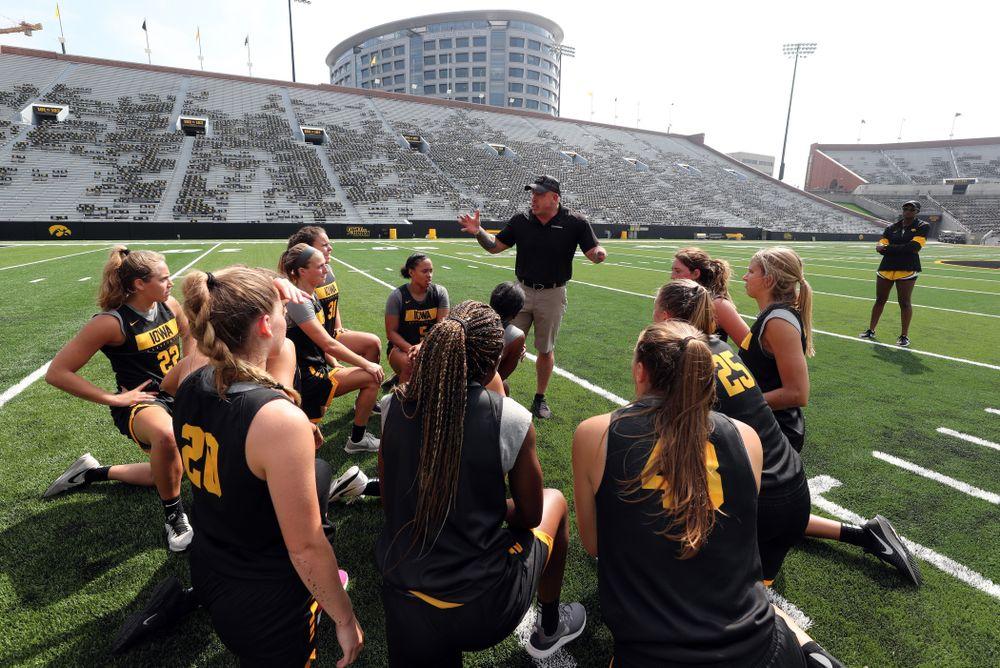 The Iowa WomenÕs Basketball Team participates in the The Program Tuesday, September 17, 2019 at Kinnick Stadium (Brian Ray/hawkeyesports.com)