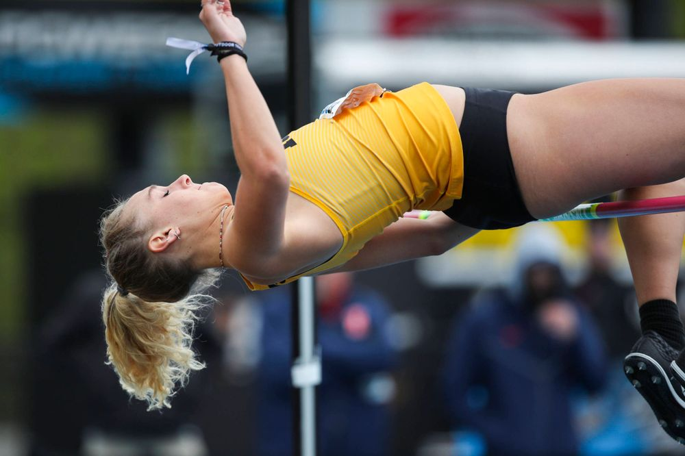 Iowa's Gillian Urycki during women's long jump at Big Ten Outdoor Track and Field Championships at Francis X. Cretzmeyer Track on Sunday, May 12, 2019. (Lily Smith/hawkeyesports.com)