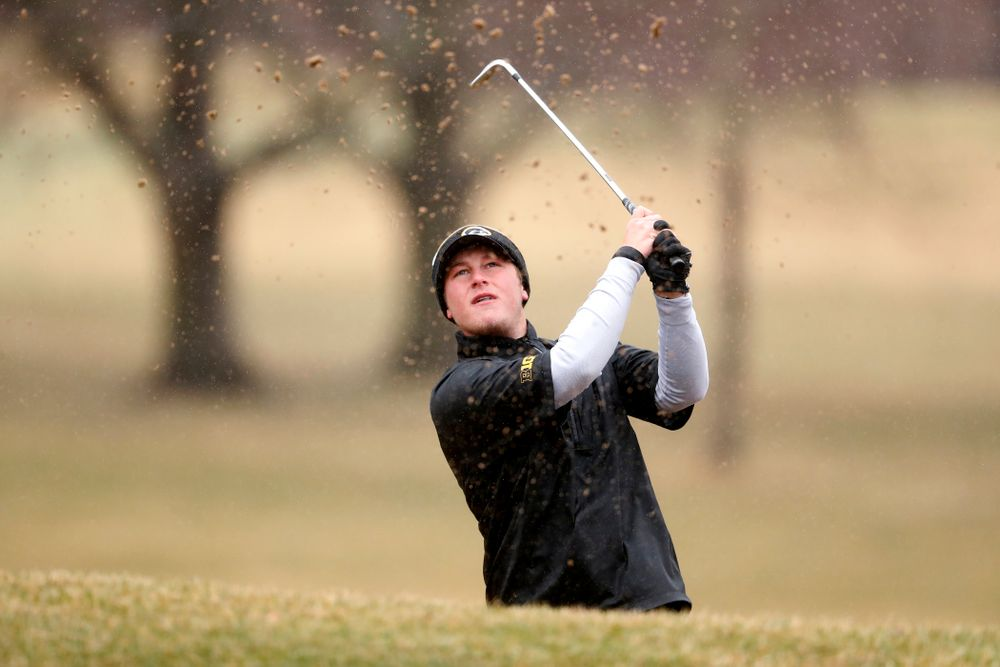 Iowa's Alex Schaake during day two of the 2018 Hawkeye Invitational Friday, April 13, 2018 at Finkbine Golf Course. (Brian Ray/hawkeyesports