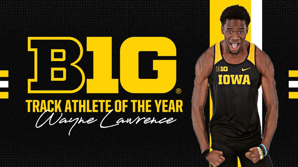 Lawrence Named B1G Men's Indoor Track Athlete of the Year