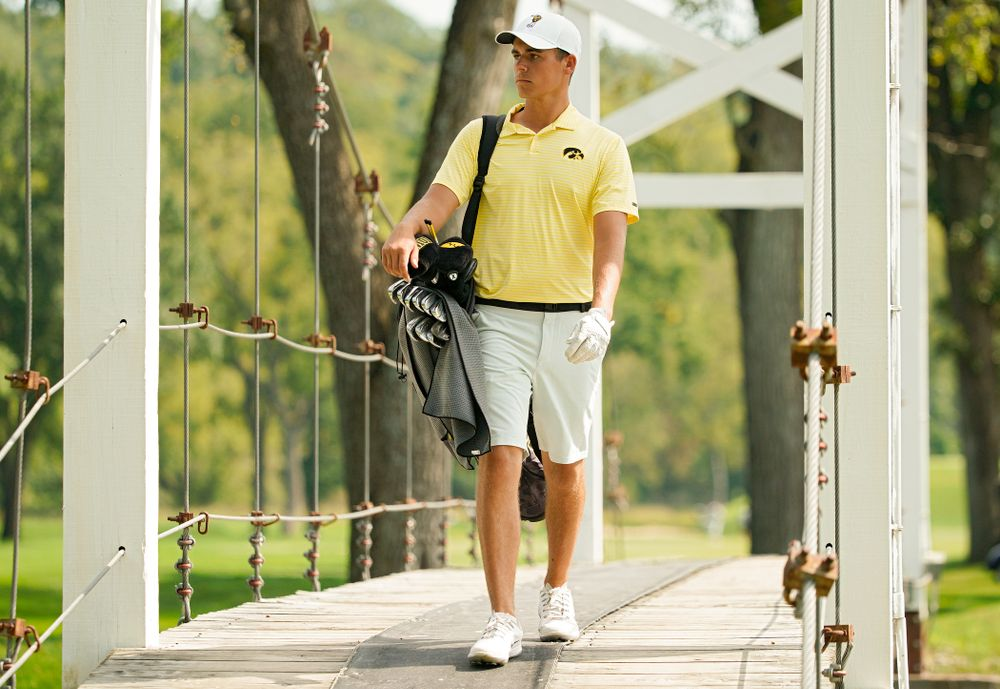 Iowa's Garrett Tighe during the third day of the Golfweek Conference Challenge at the Cedar Rapids Country Club in Cedar Rapids on Tuesday, Sep 17, 2019. (Stephen Mally/hawkeyesports.com)