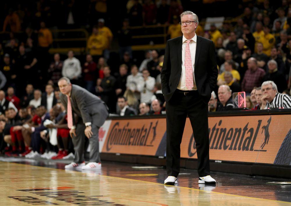 Iowa Hawkeyes head coach Fran McCaffery against the Rutgers Scarlet Knights  Wednesday, January 22, 2020 at Carver-Hawkeye Arena. (Brian Ray/hawkeyesports.com)