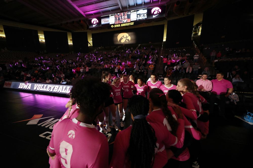 The Iowa Hawkeyes against the Michigan Wolverines Friday, October 11, 2019 at Carver-Hawkeye Arena.(Brian Ray/hawkeyesports.com)