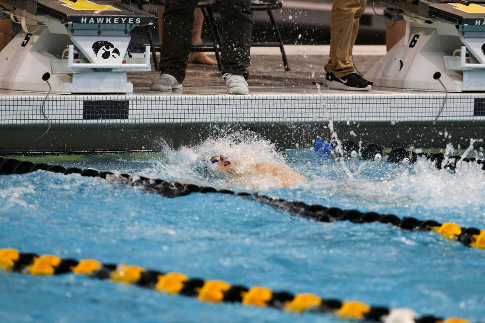 Iowa's Ryan Purdy during Iowa swim and dive vs Minnesota on Saturday, October 26, 2019 at the Campus Wellness and Recreation Center. (Lily Smith/hawkeyesports.com)
