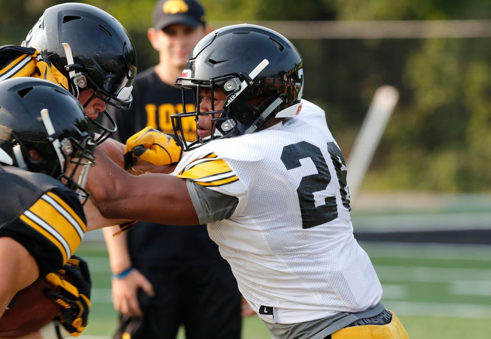 Iowa Hawkeyes defensive back Kaevon Merriweather (26) during camp practice No. 16 Tuesday, August 21, 2018 at the Hansen Football Performance Center. (Brian Ray/hawkeyesports.com)