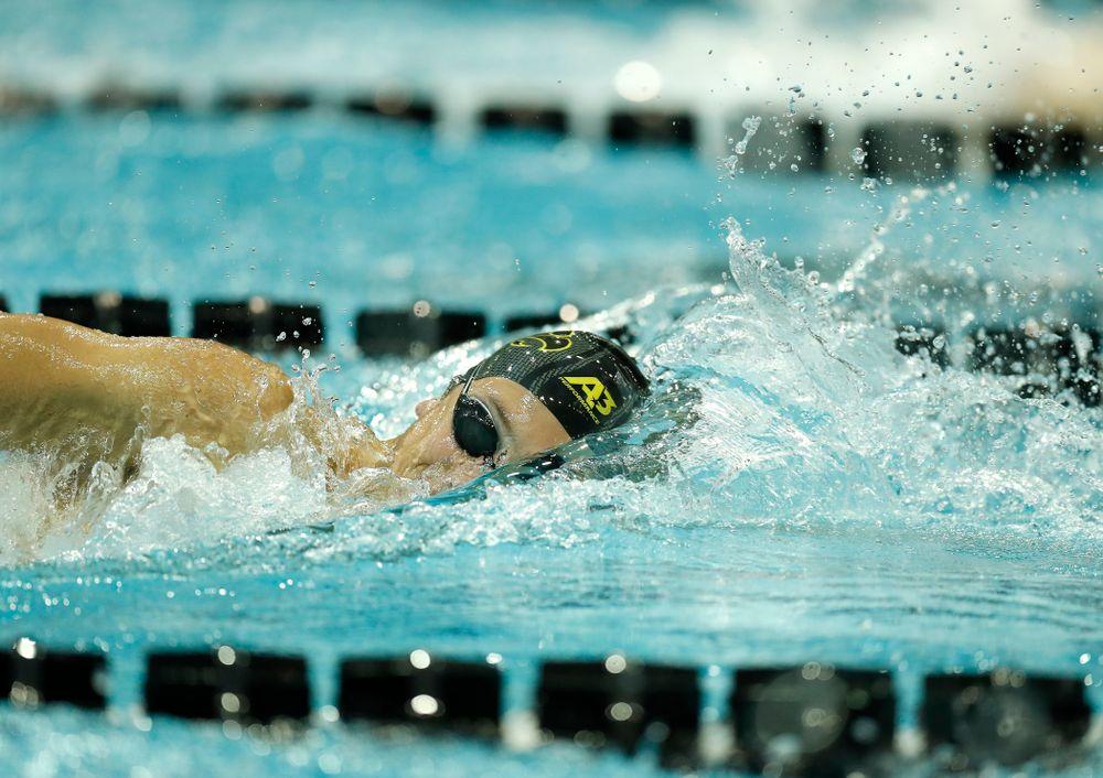 Iowa's Thomas Rathbun swims the 200 yard freestyle
