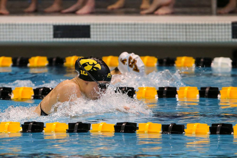 during Iowa swim and dive vs Minnesota on Saturday, October 26, 2019 at the Campus Wellness and Recreation Center. (Lily Smith/hawkeyesports.com)