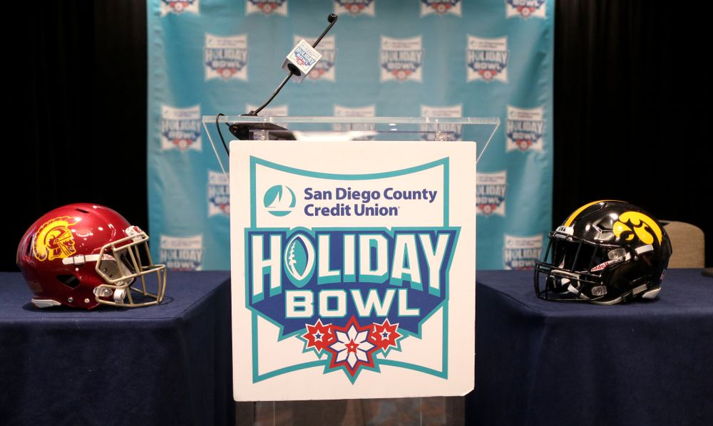 Press conference leading up to the Holiday Bowl Thursday, December 26, 2019 in San Diego. (Brian Ray/hawkeyesports.com)