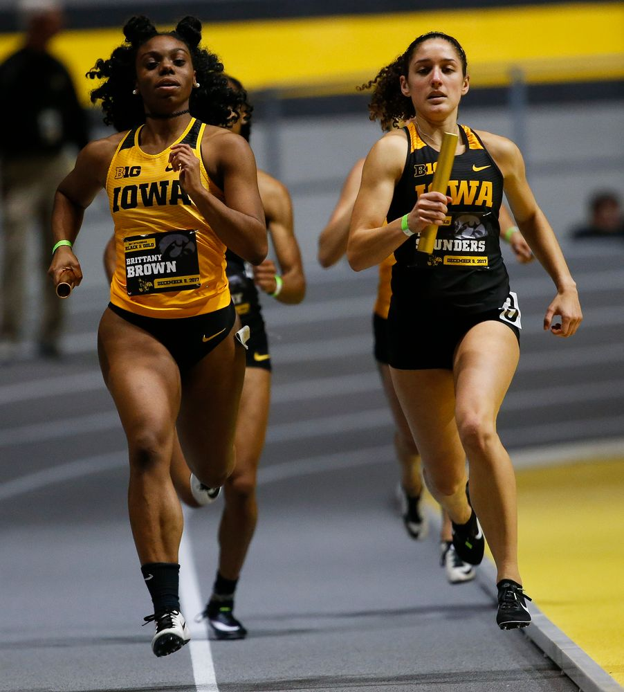 Iowa's Brittany Brown and Tia Saunders