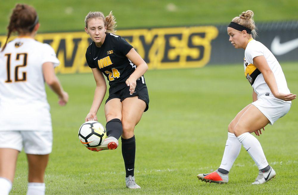 Iowa Hawkeyes defender Sara Wheaton (24)