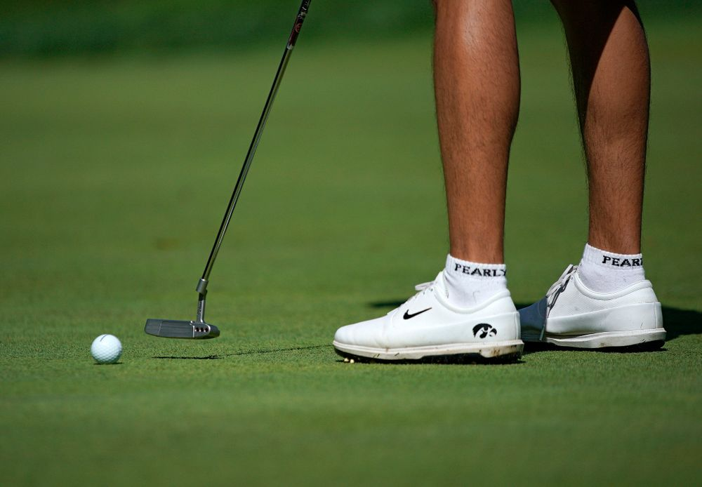 Iowa's Joe Kim putts during the second day of the Golfweek Conference Challenge at the Cedar Rapids Country Club in Cedar Rapids on Monday, Sep 16, 2019. (Stephen Mally/hawkeyesports.com)