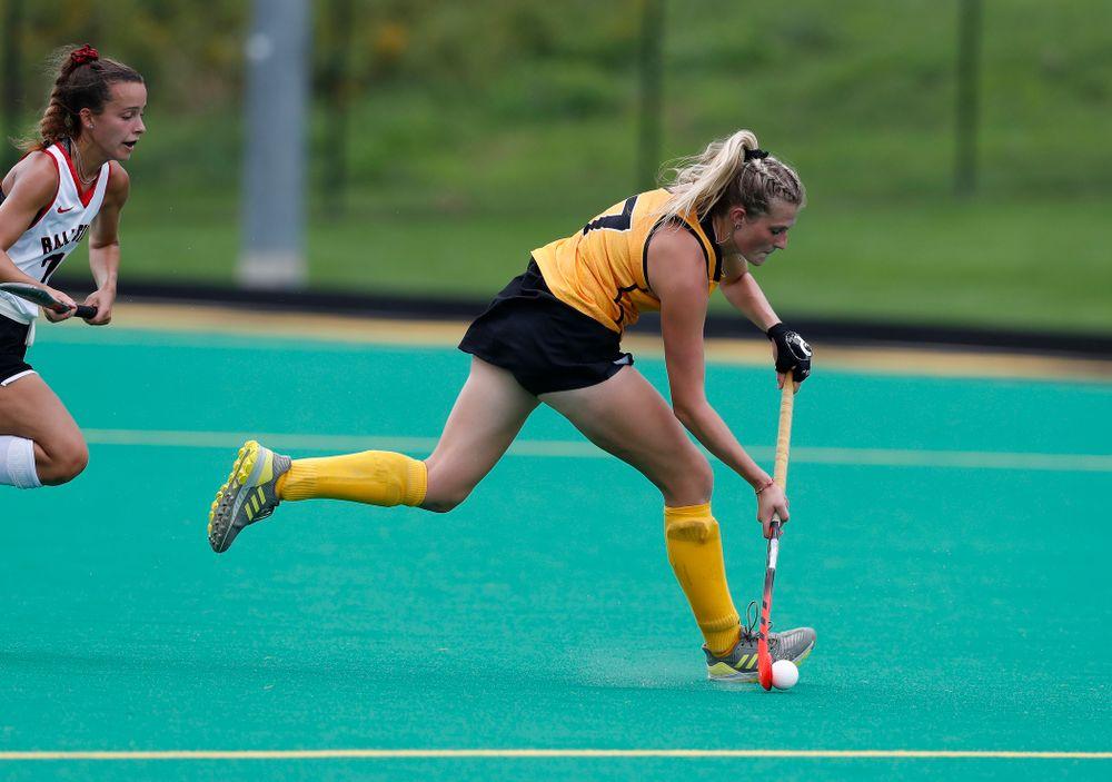 Iowa Hawkeyes Ellie Holley (7) against Ball State Sunday, September 2, 2018 at Grant Field. (Brian Ray/hawkeyesports.com)