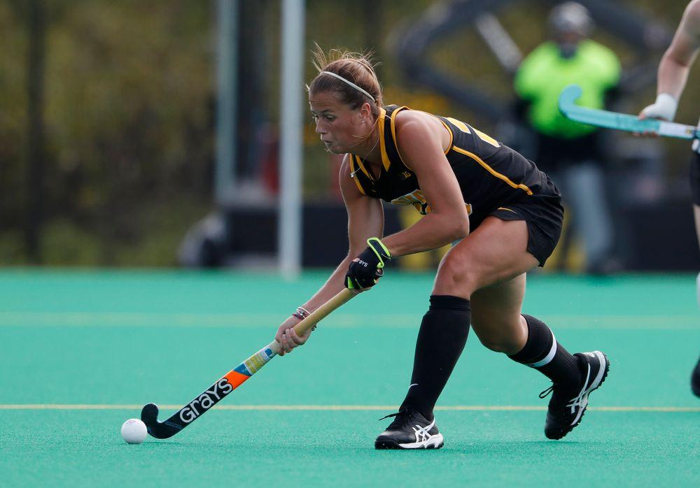 Iowa Hawkeyes Sophie Sunderland (20) against Dartmouth Friday, August 31, 2018 at Grant Field.  (Brian Ray/hawkeyesports.com)