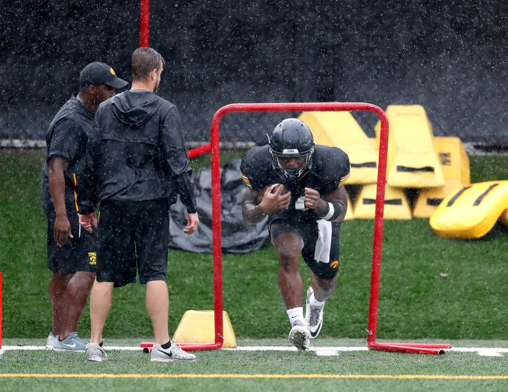 Iowa Hawkeyes running back Mekhi Sargent (10) during camp practice No. 15  Monday, August 20, 2018 at the Hansen Football Performance Center. (Brian Ray/hawkeyesports.com)