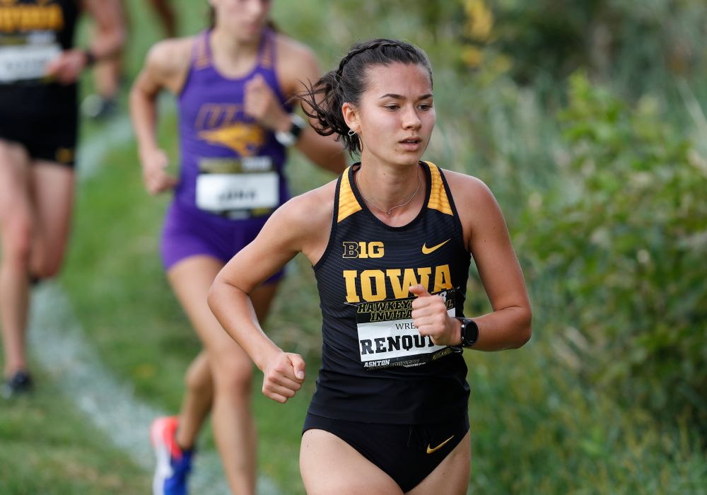 Wren Renquist during the Hawkeye Invitational Friday, August 31, 2018 at the Ashton Cross Country Course.  (Brian Ray/hawkeyesports.com)