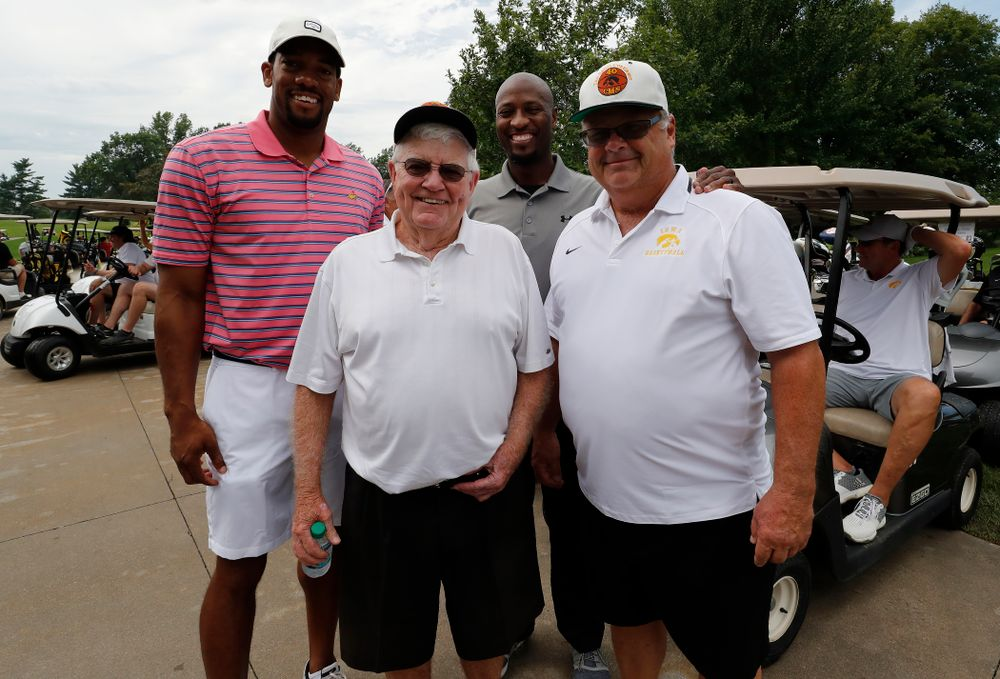 Dr. Tom Davis, Duez Henderson, Kenyon Murray, and Mike Street during the 2018 Chris Street Memorial Golf Outing Monday, August 27, 2018 at Finkbine Golf Course. (Brian Ray/hawkeyesports.com)