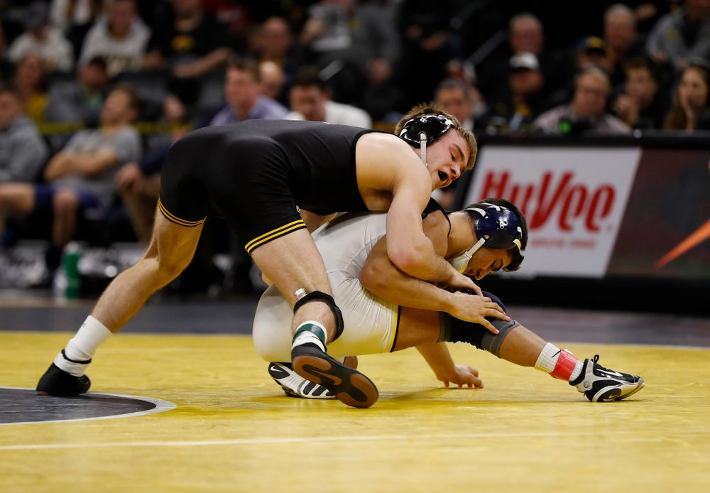 Iowa's Brandon Sorensen against Michigan's Ben Lamantia at 149 pounds