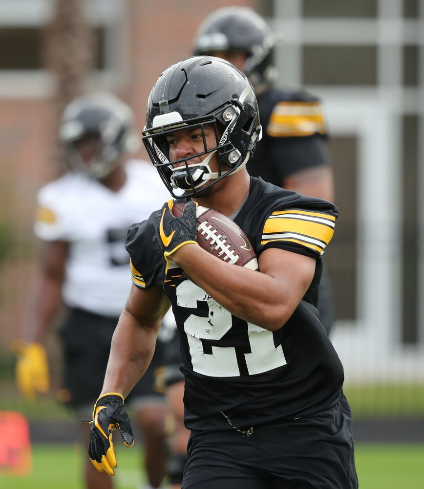 Iowa Hawkeyes running back Ivory Kelly-Martin (21) during the team's first Outback Bowl Practice in Florida Thursday, December 27, 2018 at Tampa University. (Brian Ray/hawkeyesports.com)