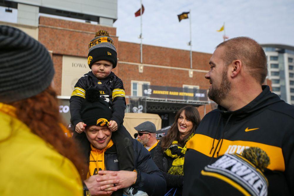 Iowa fans wait for the Hawk Walk during Iowa football vs Minnesota on Saturday, November 16, 2019 at Kinnick Stadium. (Lily Smith/hawkeyesports.com)