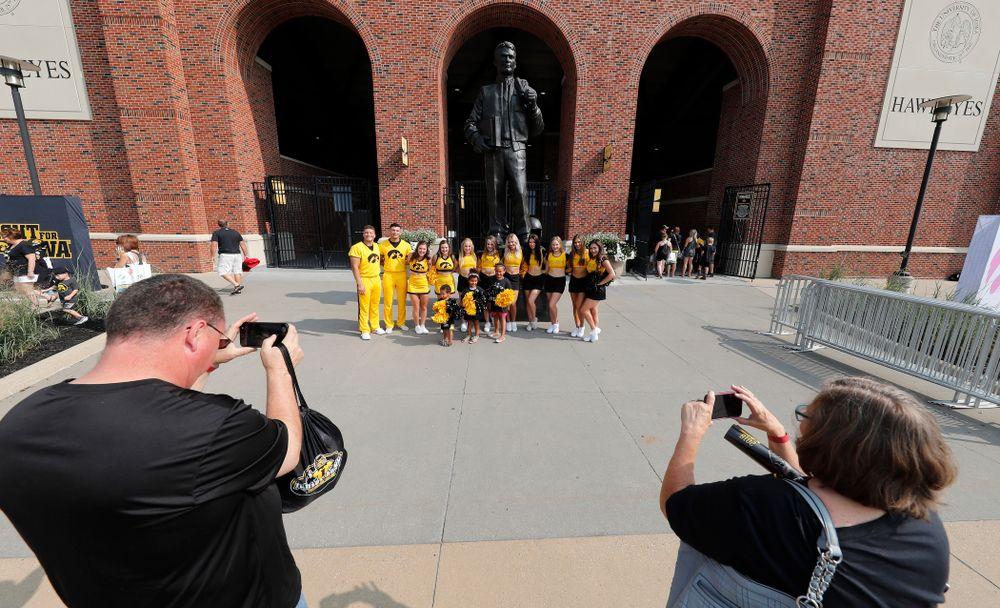 The Iowa Spirit Squad during Kids Day Saturday, August 11, 2018 at Kinnick Stadium. (Brian Ray/hawkeyesports.com)