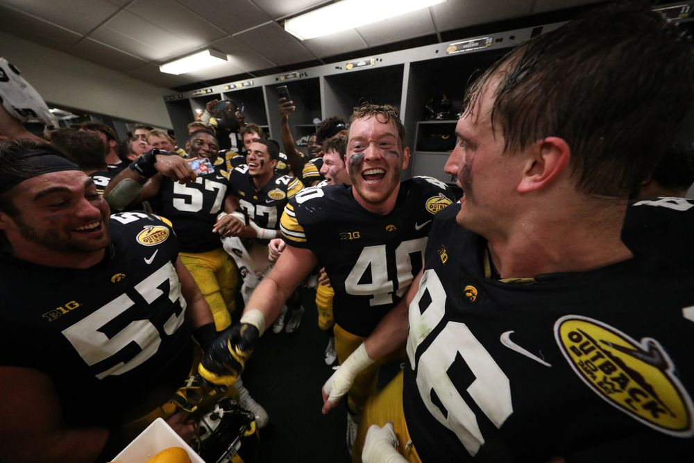 Iowa Hawkeyes defensive end Parker Hesse (40) during their Outback Bowl Tuesday, January 1, 2019 at Raymond James Stadium in Tampa, FL. (Brian Ray/hawkeyesports.com)