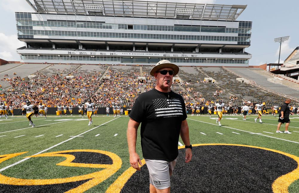 Strength and Conditioning coach Chris Doyle during Kids Day Saturday, August 11, 2018 at Kinnick Stadium. (Brian Ray/hawkeyesports.com)