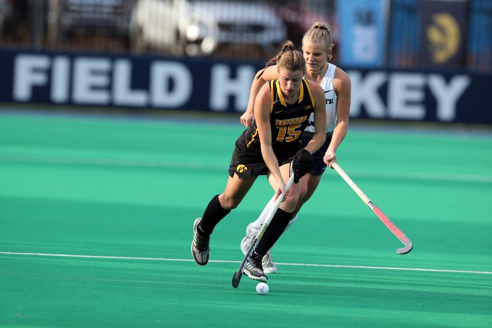 Iowa Hawkeyes Esme Gibson (15) against Penn State in the 2019 Big Ten Field Hockey Tournament Championship Game Sunday, November 10, 2019 in State College. (Brian Ray/hawkeyesports.com)