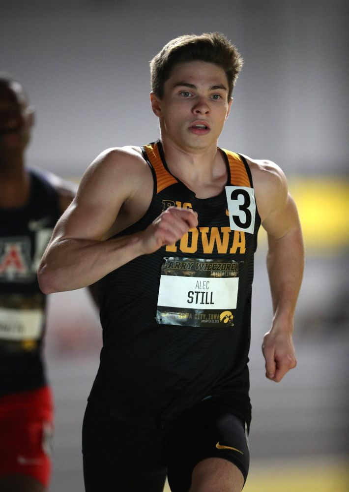 Iowa's Alec Still runs the 600 meter premier during the 2019 Larry Wieczorek Invitational Friday, January 18, 2019 at the Hawkeye Tennis and Recreation Center. (Brian Ray/hawkeyesports.com)