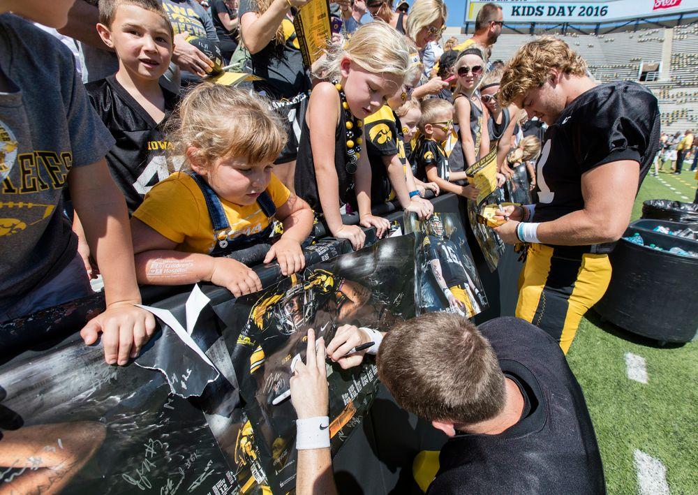 Hawkeye Football Kids Day at Kinnick 2016
